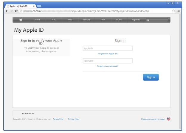 apple-id-phishing-page