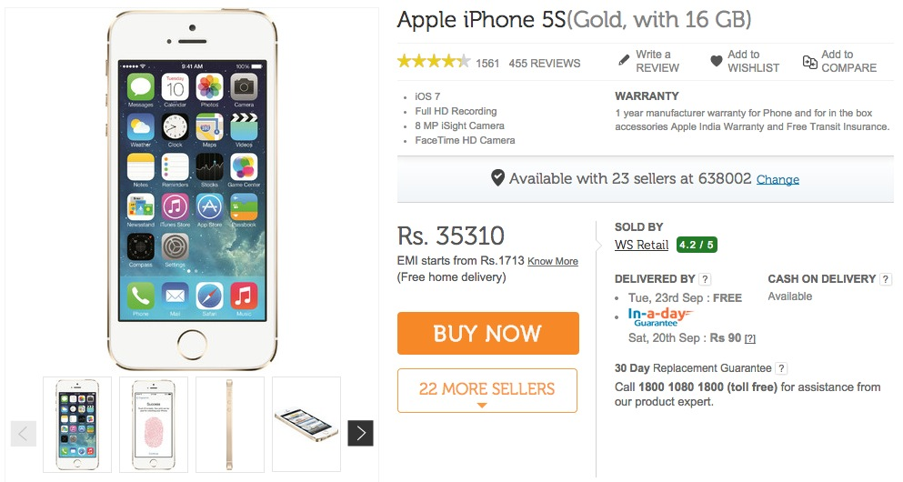 iPhone-5S-Flipkart