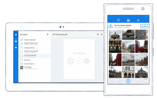how to download photos from dropbox to phone