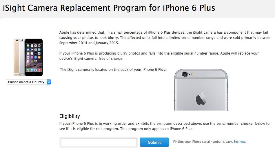 free iphone camera replacement program