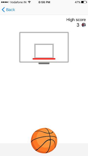 basketball game facebook messenger
