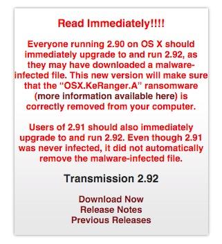 transmission bt keyranger ransomware