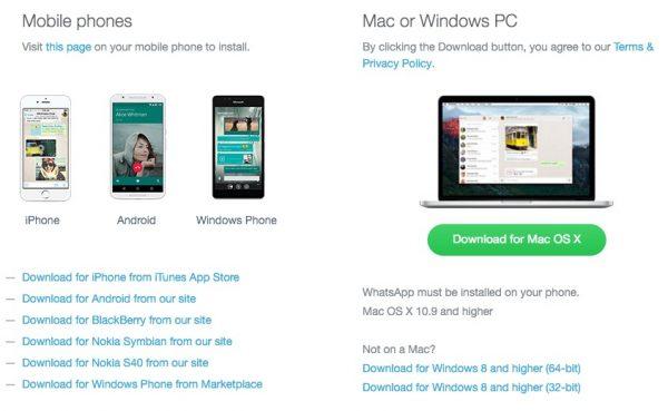 download whatsapp software