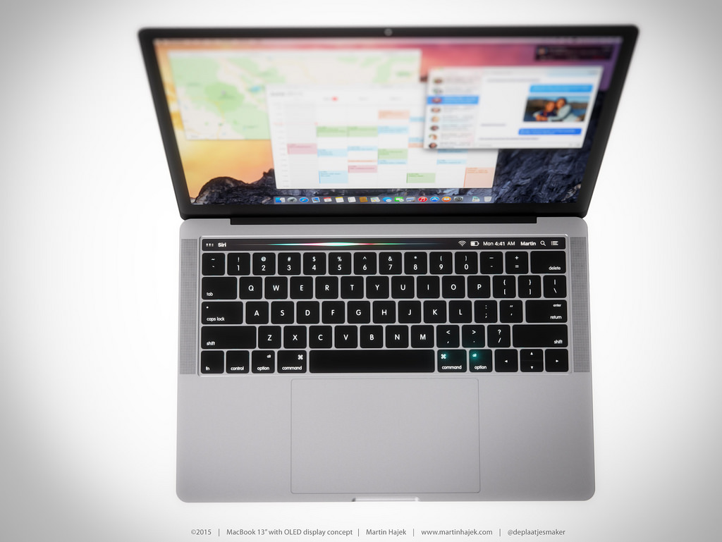 macbook pro 2016 design siri
