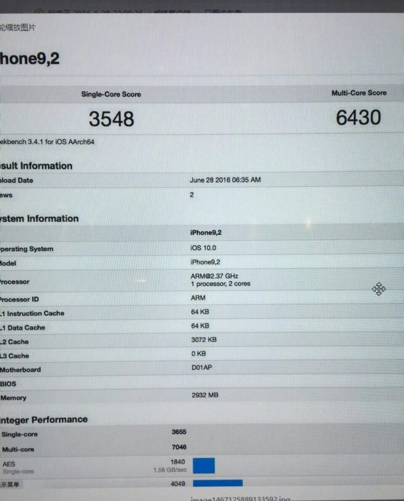 iphone 7 benchmark results