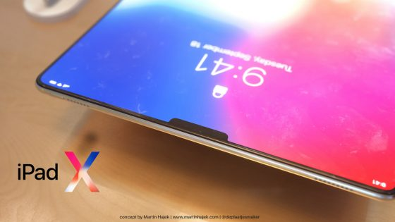 ipad x 2018 design mockup