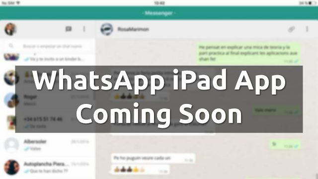 whatsapp ipad app download