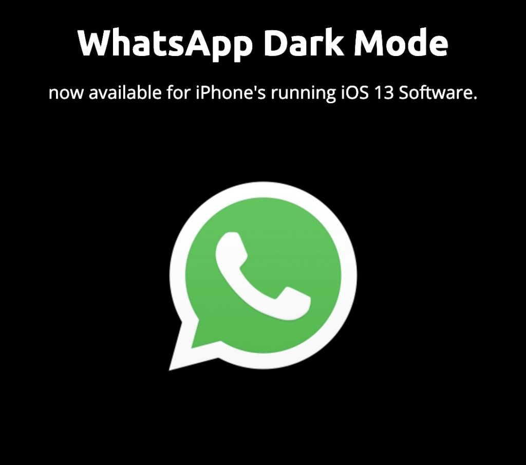 Whatsapp Dark Mode iPhone