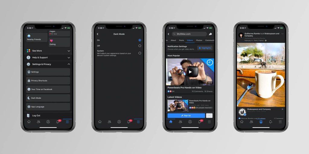 facebook dark mode iphone download