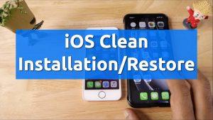 ios clean installation restore iphone ipad