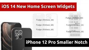 ios 14 iphone 12 pro smaller notch camera design