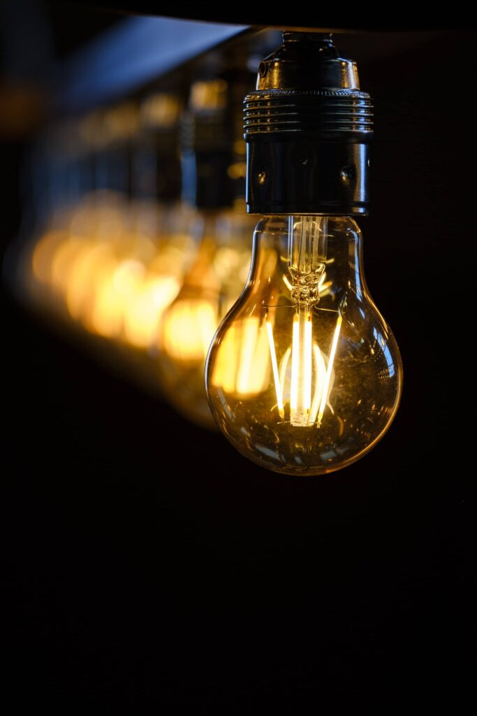 lamp glowing nord wallpaper