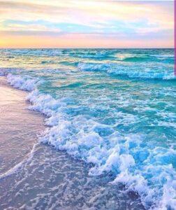 pink beach paradise nord wallpaper