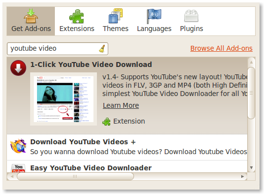 1 Click Youtube Video Downloader