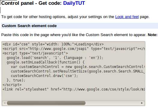 cse get code How to Add Google Custom Search in your Blog ?