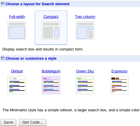 cse layout How to Add Google Custom Search in your Blog ?