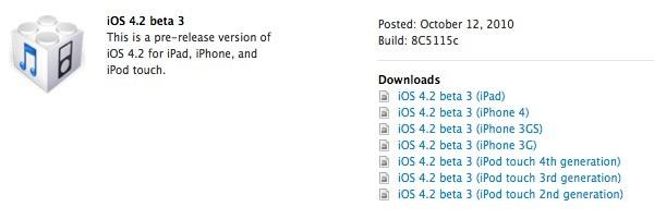 iOS 4.2 Beta Download