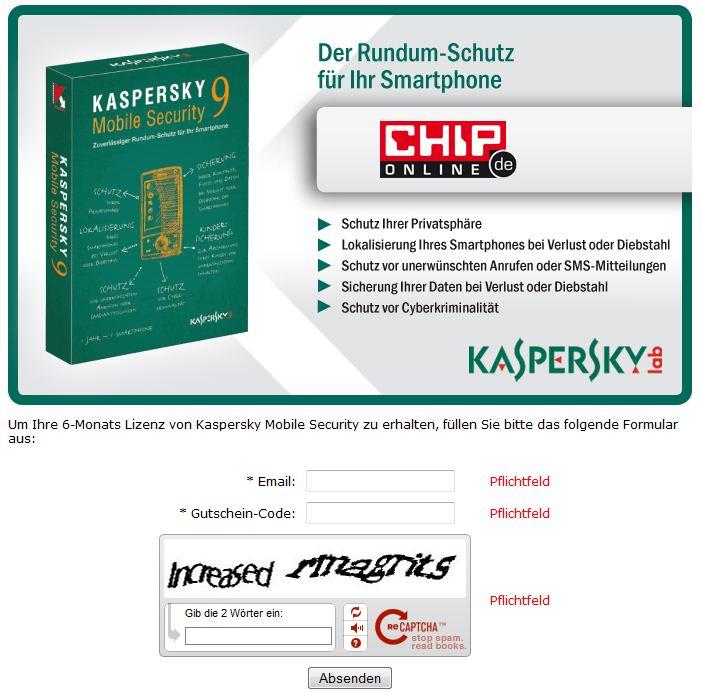 mobile kaspersky activation code