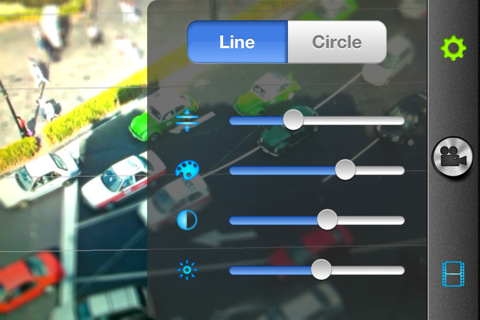 Realtime TiltShift video iphone