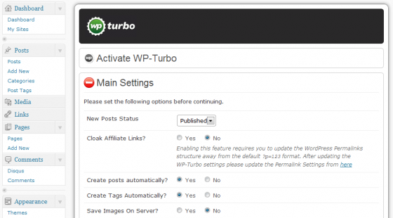 wpturbo administrator
