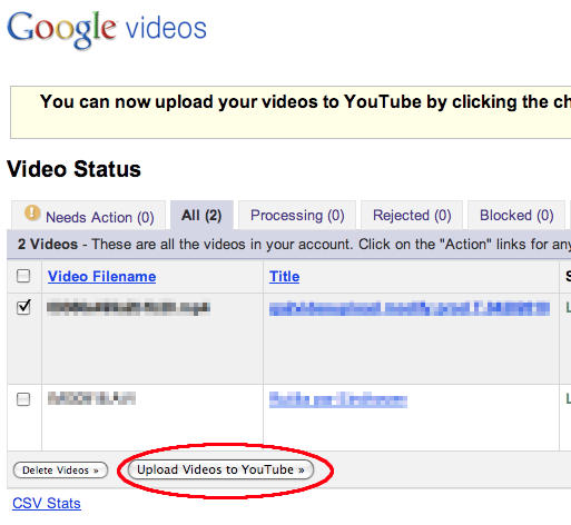 Google Video Upload Youtube
