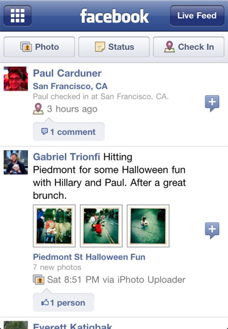 facebook app for iphone, ipad