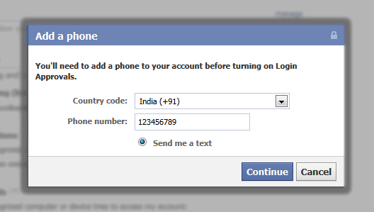 Facebook Login Secured by Trusted Device Feature