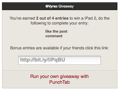 punchtab giveaway