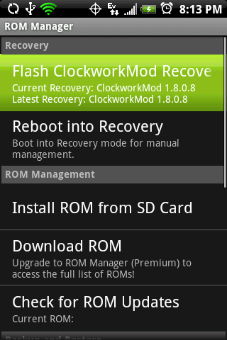 android firmware downgrade