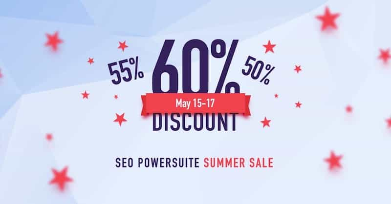 seopowersuite coupon summer sale 2018