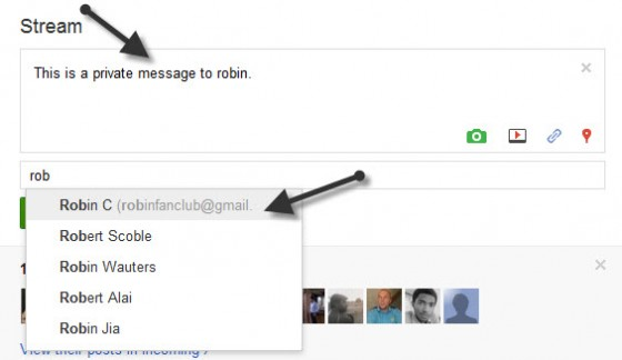 13 560x324 HOW TO: Send Private Message in Google+ ?