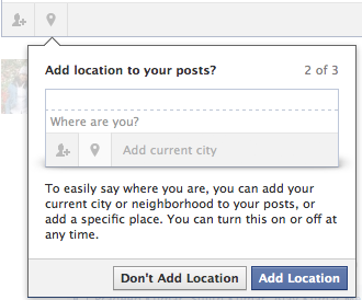 facebook location add