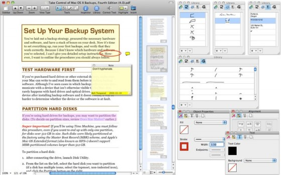 pdfpen pro screenshot 560x349 12 PDF Readers and Editors For Mac OS X