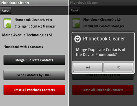 phonebook cleaner