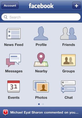 Facebook app 3.5