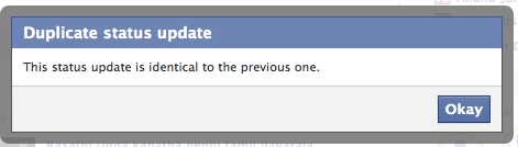 facebook duplicate update