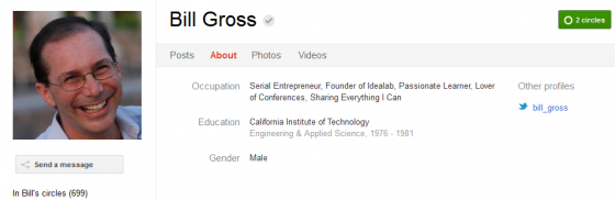 Bill gross 560x182 Google Plus 20+ Must Follow Personalities to Transform your Stream to Amazing