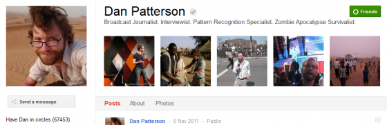 Dan patterson 560x182 Google Plus 20+ Must Follow Personalities to Transform your Stream to Amazing
