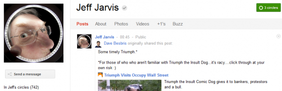 Jeff Jarvis 560x182 Google Plus 20+ Must Follow Personalities to Transform your Stream to Amazing