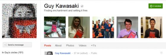 guy Kawasaki 560x185 Google Plus 20+ Must Follow Personalities to Transform your Stream to Amazing