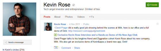kevin rose 560x178 Google Plus 20+ Must Follow Personalities to Transform your Stream to Amazing