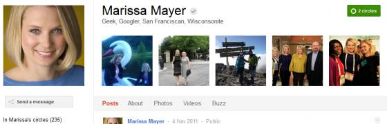 marissa mayer 560x180 Google Plus 20+ Must Follow Personalities to Transform your Stream to Amazing