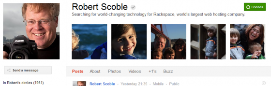 robert Scuble 560x178 Google Plus 20+ Must Follow Personalities to Transform your Stream to Amazing