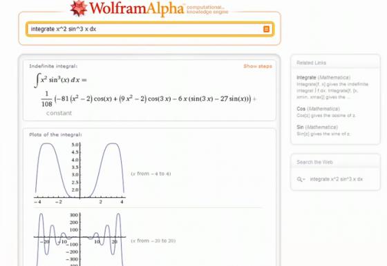 wolfram alpha result