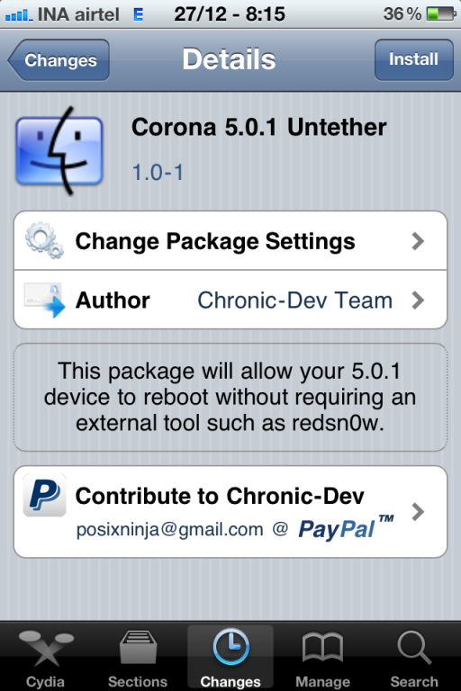 corona jailbreak cydia iOS 5.0.1 Untethered Jailbreak Arrived for iPhone 4, iPod Touch and iPad