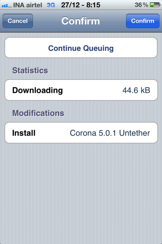 corona unthethred 560x840 iOS 5.0.1 Untethered Jailbreak Arrived for iPhone 4, iPod Touch and iPad