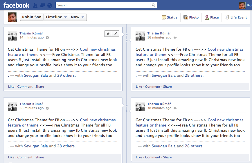 Facebook Spam] Get Christmas Theme for Facebook, Auto Tags