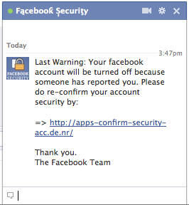 facebook spam security