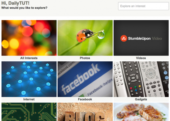 stumbleupon new design