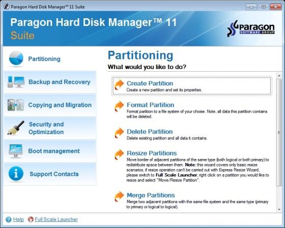 paragon hard disk manager